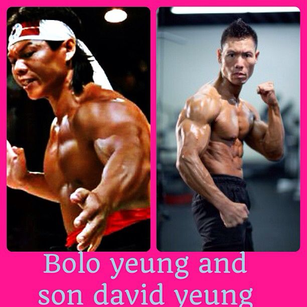 Bolo yeung and his son david