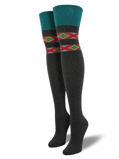 Aztec Socks for Women - Over the Knee