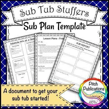 sub lesson plan template