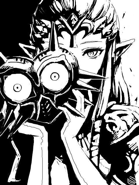 Princess Zelda With Majoras Mask?! that's different! I dig this beautiful artwork!  https://www.instagram.com/ariannamarissa/