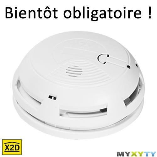 Le détecteur de fumée Myxyty. Bientôt obligatoire dans toutes les habitations : http://www.myxyty.com/produit/detecteur-de-fumee-incendie-sans-fil-frequence-radio-x2d