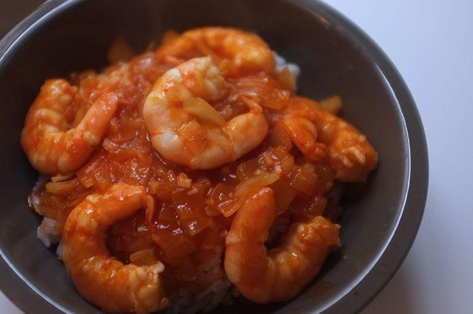 Crevettes à la sauce piquante