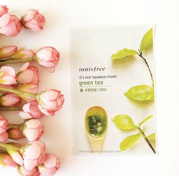 Innisfree it's real squeeze mask (Green Tea) Review |Serene Sparkle
