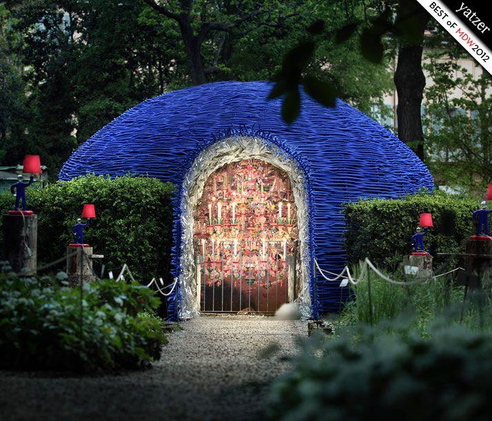Orto Botanico di Brera o il gardino segreto -il vetro soffiato Barovier nel un insediamento da Paola Navone