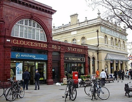 "Gloucester Road Tube Station - I stayed right around the corner from here. Dom would say ""Gloucester, there always from Gloucester."" eye roll"