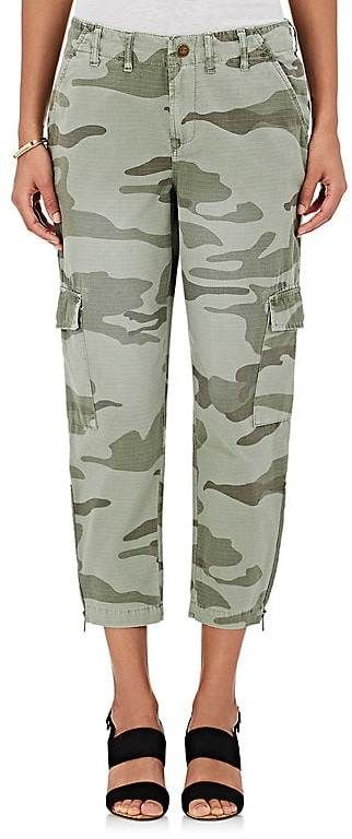 Current/Elliott Women's Camouflage-Print Cotton Cargo Pants