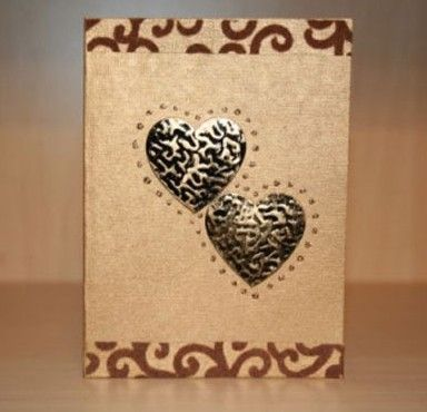 Simple Handmade Valentines day card photos.