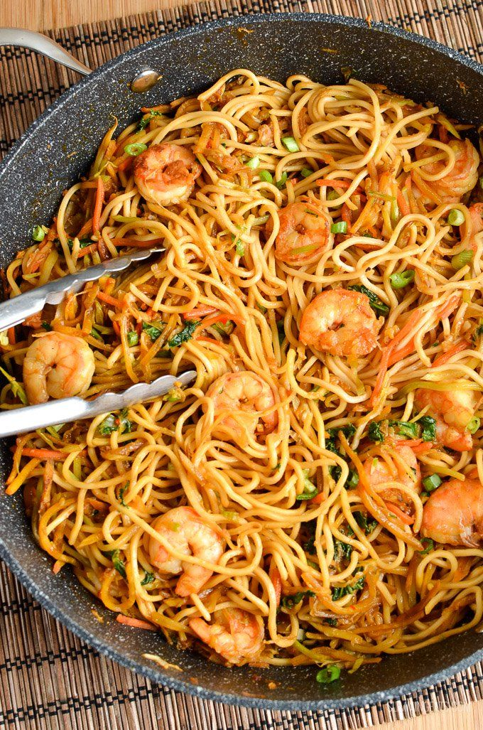 Try this easy and quick Low Syn Sweet Chilli Prawns and Noodles for dinner tonight - all ready in less than 30 minutes.