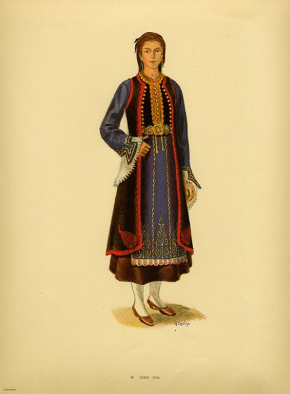 Φορεσιά Ζίτσας. Costume from  Zitsa. Collection Peloponnesian Folklore Foundation, Nafplion. All rights reserved.