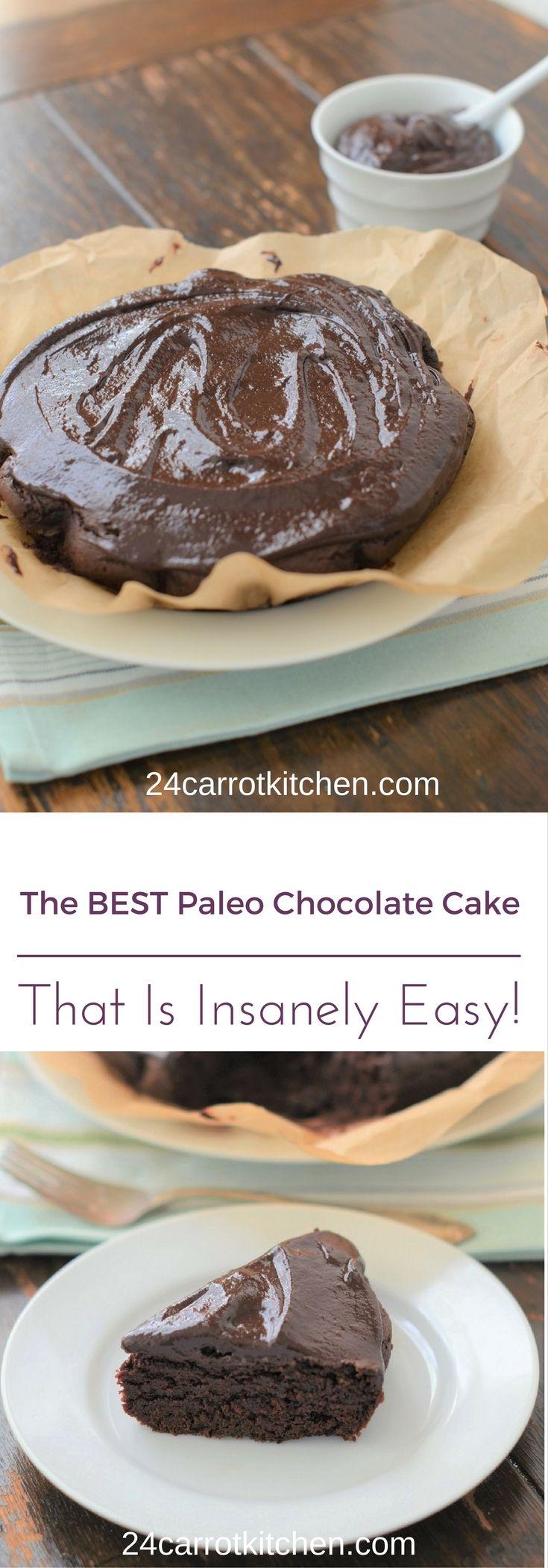 The BEST Paleo Chocolate Cake - 24 Carrot Kitchen