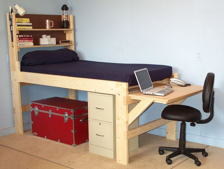 Shown With The Short Desk At The End Of The Bed High
