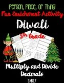 Diwali Facts Holiday Multiply and Divide Decimals Math 5th