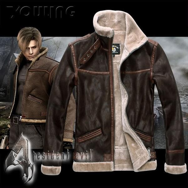 Get your very own coat worn by Leon from Resident Evil 4. 3 colors available Light Brown Dark Brown Black