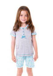 Pijama niña igual que el de mamá. Lohe. Moda en Familia.