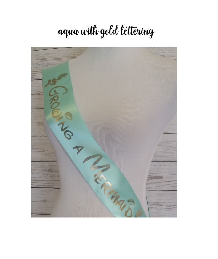 Growing a Mermaid Sash, Posh Aqua Baby Shower Sash for mommy to be to wear at Baby Shower or Baby Sprinkle, Comes with a Rhinestone Pin by AmysBubblingBoutique on Etsy https://www.etsy.com/listing/269758169/growing-a-mermaid-sash-posh-aqua-baby