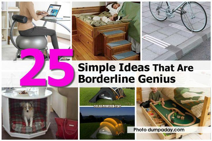 25 Simple Ideas That Are Borderline Genius  - http://www.hometipsworld.com/25-simple-ideas-that-are-borderline-genius.html