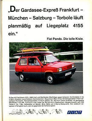 Fiat Panda 45 (1983) - der Beginn des Werbekampfes gegen die Deutsche Bahn (Aufnahmedatum: 1983) , ©Zwischengas Archiv