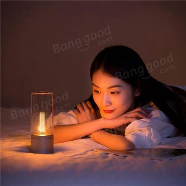 Original Xiaomi Yeelight 6.5W Rechargeable Dimmable LED Candela Candle Night Light Bluetooth Control Sale - Banggood.com