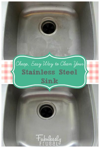 Cool DIY trick to clean your stainless steel sink with natural products you probably already have at home!