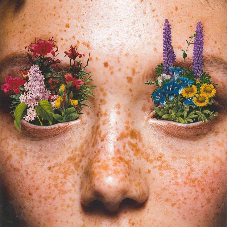 Slime Sunday #flowers #eyes #collage #trippy #art