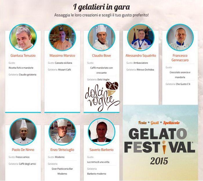 Claudio Bove sfiderà altri 7 maestri gelatieri in gara dal 21 al 24 maggio in piazza Diaz a Bari