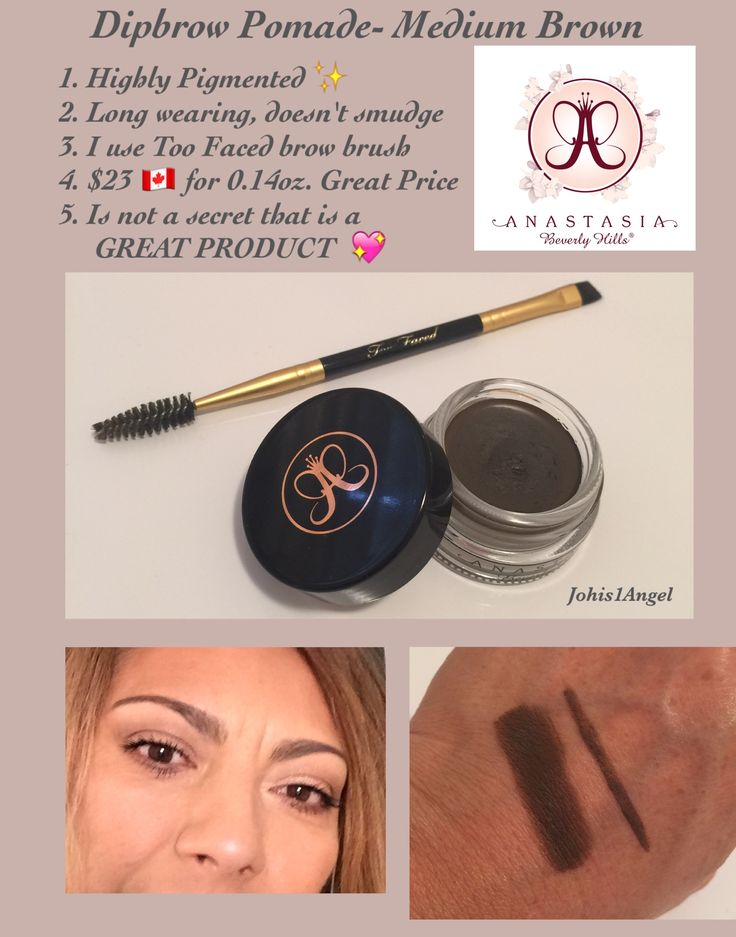 Is Anastasia Beverly Hills Dipbrow Pomade de best brow product? The answer is YES  in my opinion and the price is great $23
