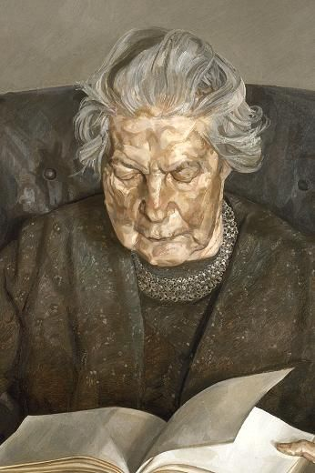 Lucian Freud: The Painters Mother Reading, 1975.
