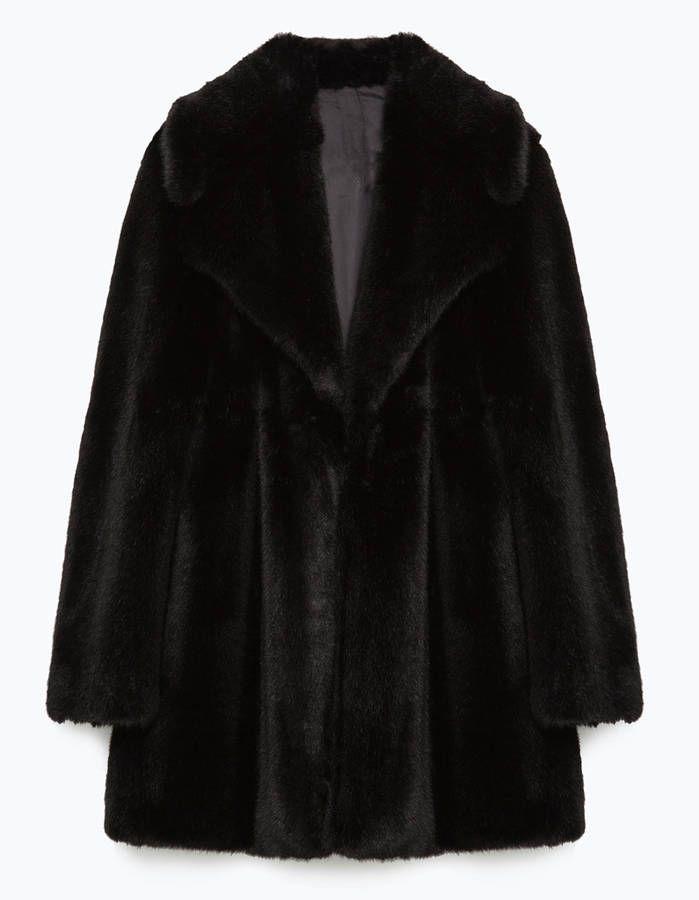Manteau en fausse fourrure Zara