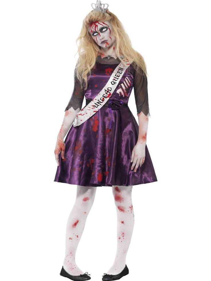 Teen Size Zombie Prom Queen Costume