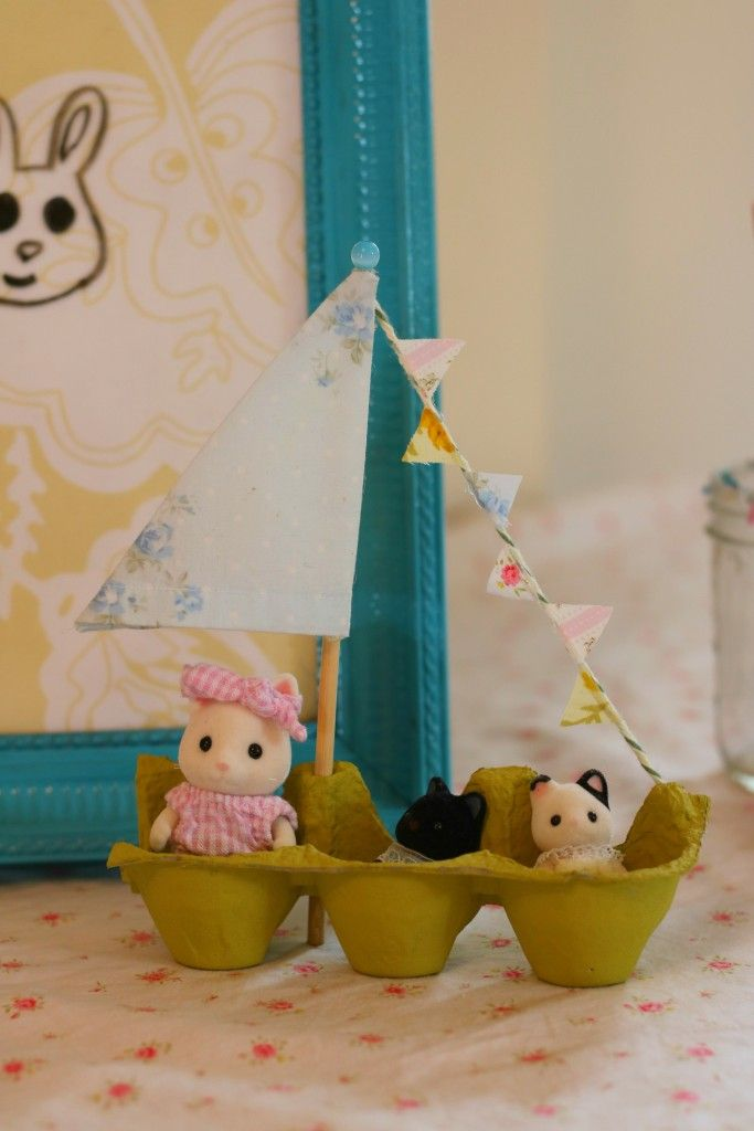 Calico Critters birthday party boat decoration