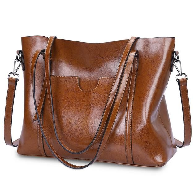 Womens Leather Tote Bag Shoulder Bag Messenger Bag Classic Work Shopping