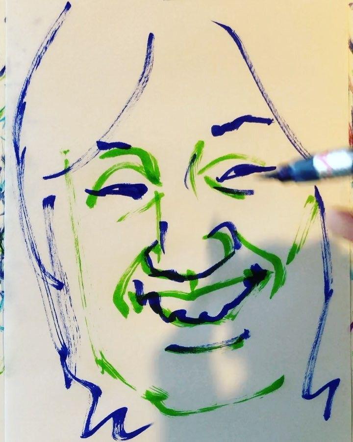 いいね!19件、コメント1件 ― torao fujimotoさん(@1mindraw)のInstagramアカウント: 「#kawachiyakikusuimaru #河内家菊水丸 #kawachiondo #河内音頭 #音頭取り #19630214 #birthday #誕生日 #1mindraw #一分描画…」