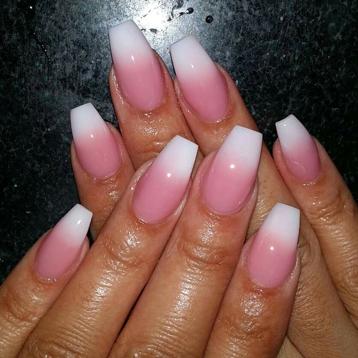 Pink And White Natural Nails