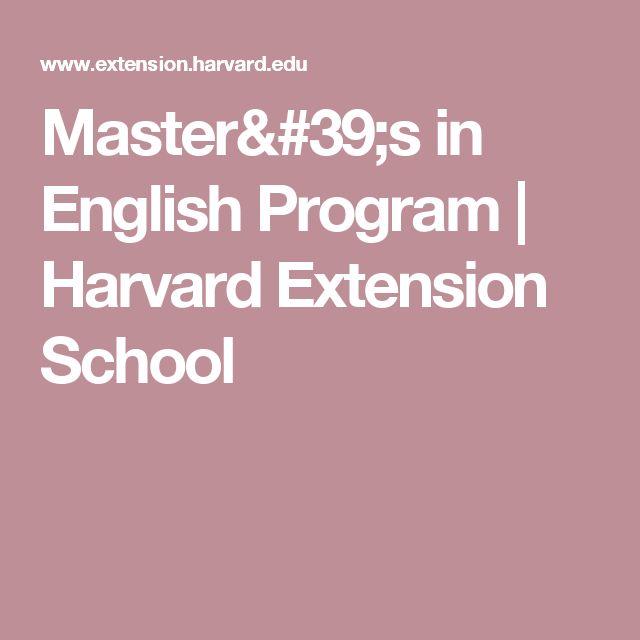 Master's in English Program | Harvard Extension School
