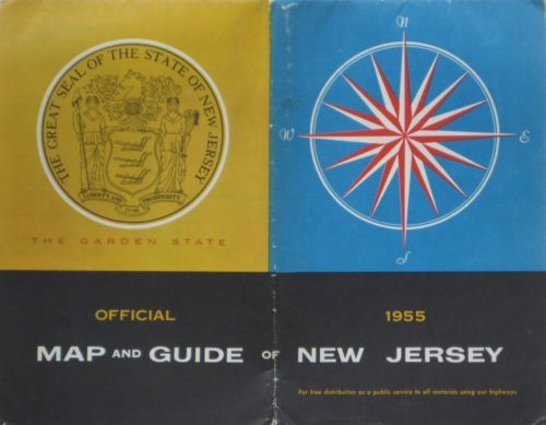 1955 new jersey official highway road map atlas #garden state #parkway #turnpike , View more on the LINK: http://www.zeppy.io/product/gb/2/271563897965/