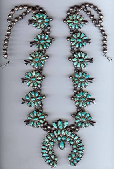 Love turquoise squash blossom necklaces . Similar to mine :) <3