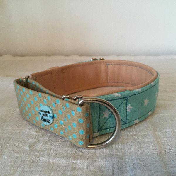 """Hund: Halsbänder - Zugstopp-Halsband """"Ole's-Juwel-of-the-Ocean"""" - ein Designerstück von Wau-Wuff-And-U bei DaWanda"""