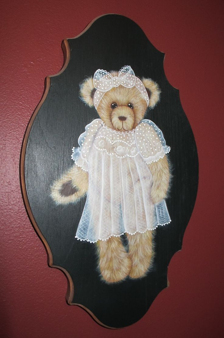 Girl Teddy- painted after taking a class on painting the fur. I love teddy bears and they are fun to paint! The fur takes at least eight layers.