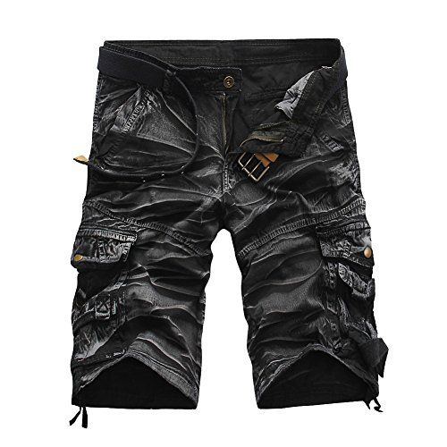 Militar Cortos de Carga Camuflaje Bermuda Cortos Pantalones Deporte Shorts  Multi Bolsillos Moda Pantalones Cortos Hombre cda7647f213a