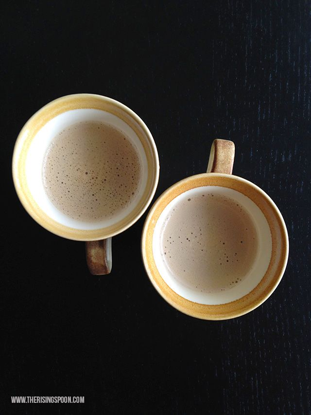 Take your hot buttered coffee (a.k.a. bulletproof coffee) to the next level by adding in flavorings like cinnamon, nutmeg, pumpkin spice, gingerbread spice, cacao powder, turmeric and more!