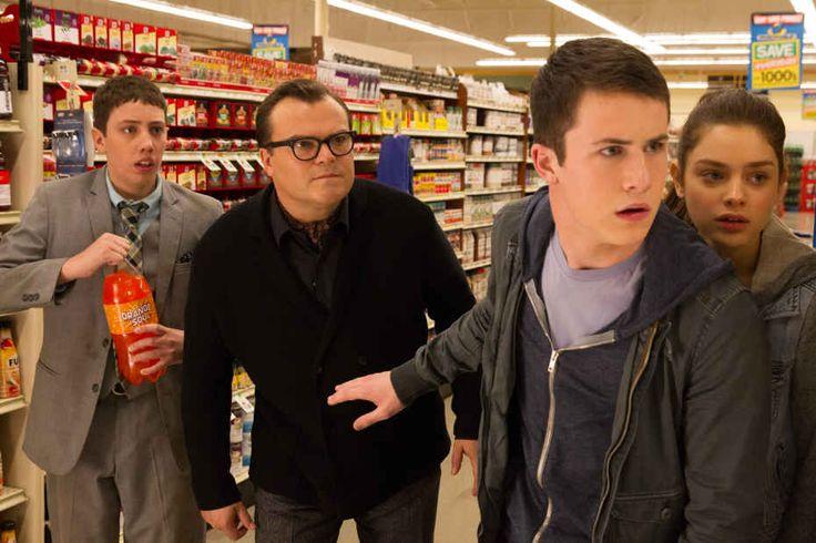 Ryan Lee, Jack Black, Dylan Minnette, and Odeya Rush in 'Goosebumps.' (Photo: ©2015 CTMG)