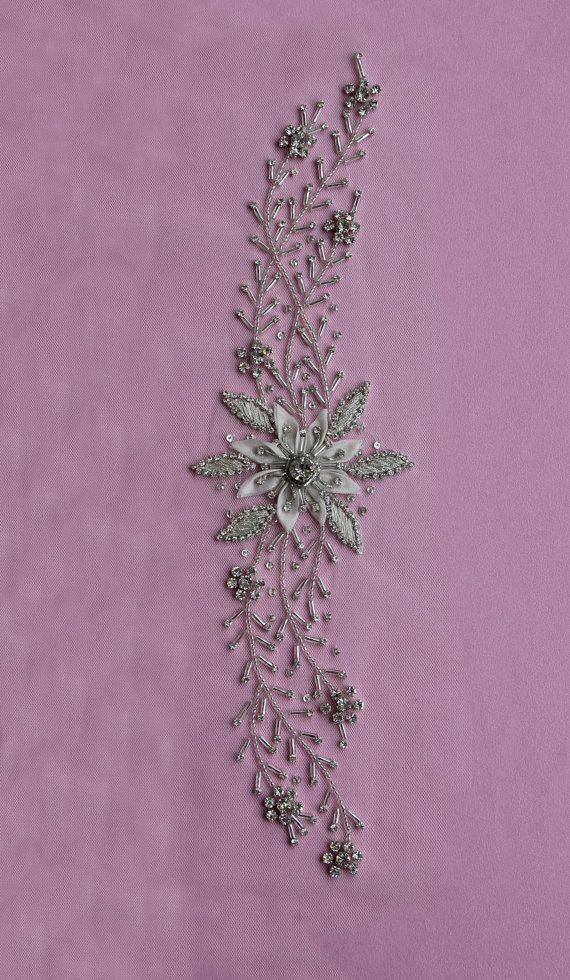 Swarovski Crystal Applique MAINE by allysonjames on Etsy
