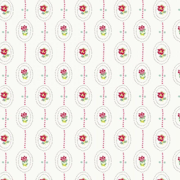 Kinderkleding en kinderbeddengoed Camee white behang - Travel Memories Collectie, Tweede Boek - Behang  - Room Seven