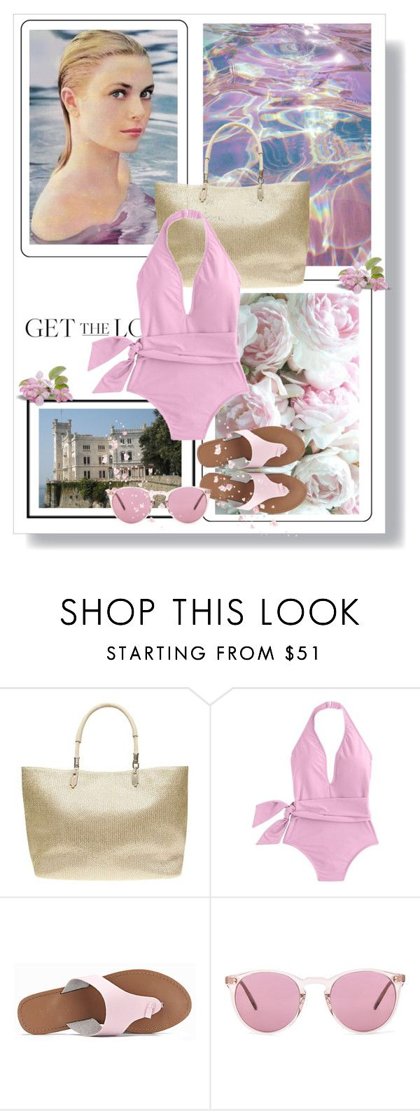 """""""Get the Look: Grace Kelly Swimsuit Edition"""" by dezaval ❤ liked on Polyvore featuring Kleenex, Dorothy Perkins, J.Crew, Oliver Peoples, GetTheLook, Swimsuits and onepieceswimsuit"""