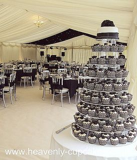 Black and White Wedding Cupcake Tower | Flickr - Photo Sharing!
