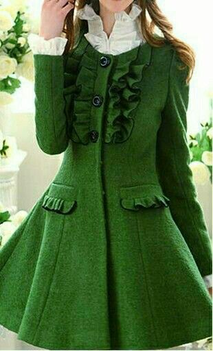 Possibly the most beautiful green coat ever!