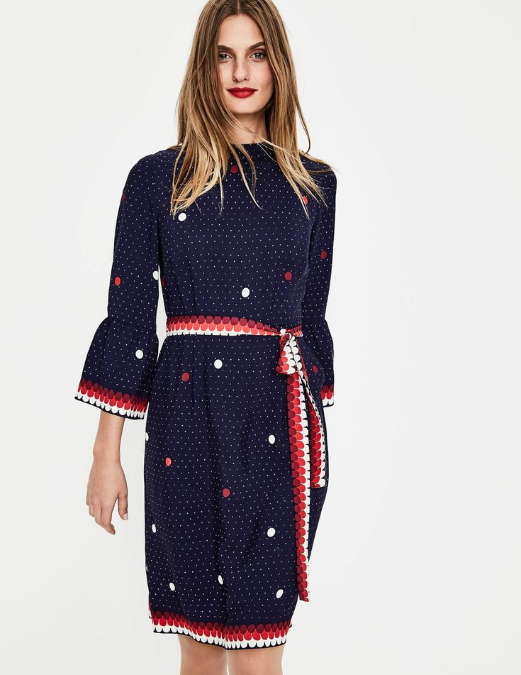Armelle Dress W0081 Smart Day Dresses at Boden