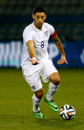Clint Dempsey in action during the Ukraine v USA International Friendly at Antonis Papadopoulos Stadium on March 5, 2014 in Larnaca, Cyprus.