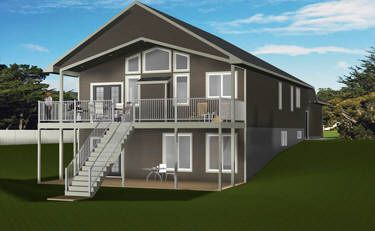 House plan 2014825 daylight basement bungalow by for Bungalow with walkout basement