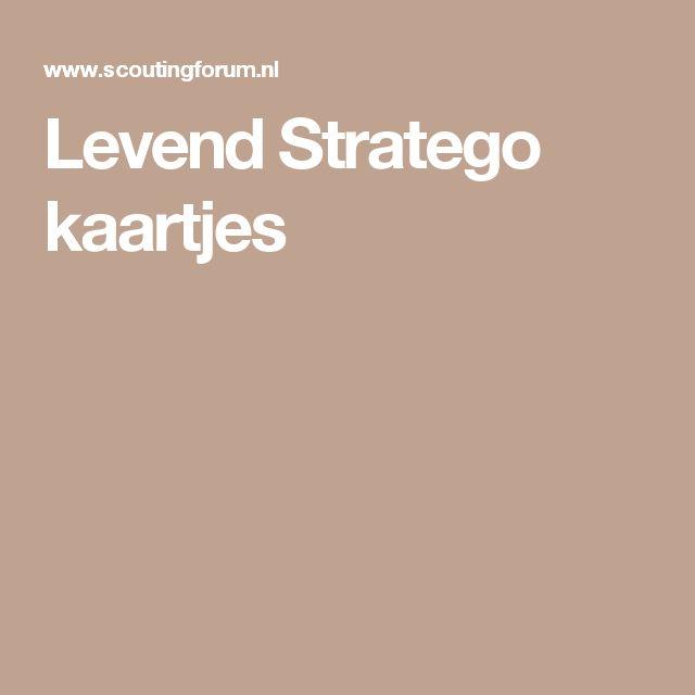 Levend Stratego kaartjes